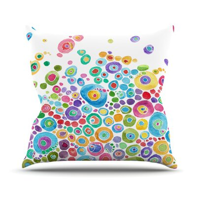 Sandy Throw Pillow Color: White, Size: 26 H x 26 W x 1 D
