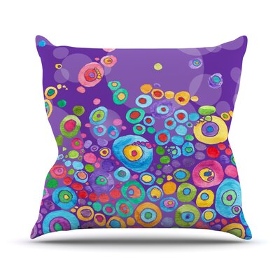 Throw Pillow Size: 18 H x 18 W x 1 D, Color: Purple