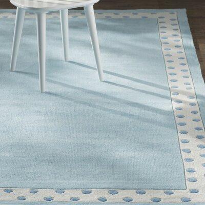 Audrey Handmade Blue Area Rug Rug Size: 76 x 96
