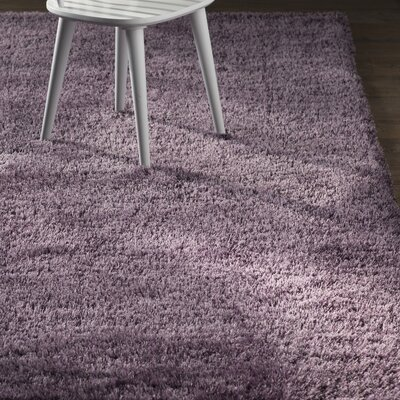 Evelyn Fig Purple Area Rug Rug Size: Round 6