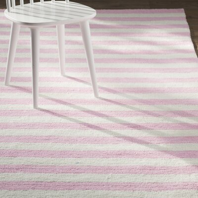 Allison Hand-Tufted Pink Area Rug Rug Size: 76 x 96