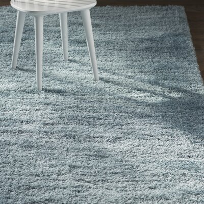Evelyn Light Blue Area Rug Rug Size: Round 6