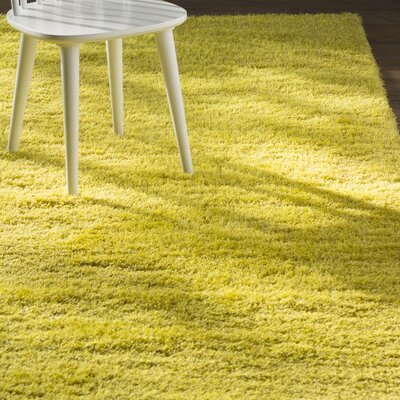 Evelyn Yellow Area Rug Rug Size: Round 6