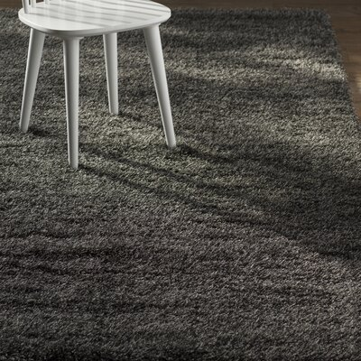 Evelyn Black Area Rug Rug Size: Rectangle 9 x 12