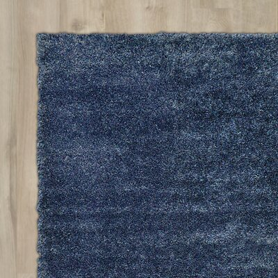 Evelyn Navy Blue Area Rug Rug Size: 122 x 16