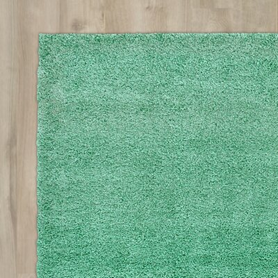 Evelyn Feldspar Green Area Rug Rug Size: 27 x 65