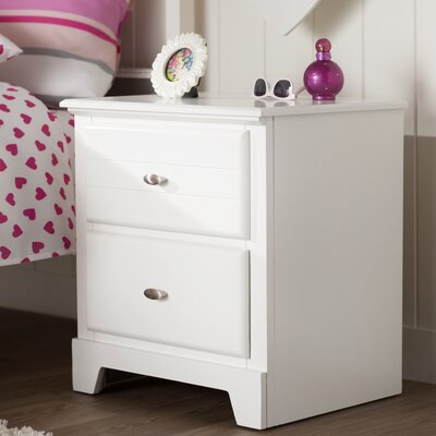 Skylar 2 Drawer Nightstand Color: White