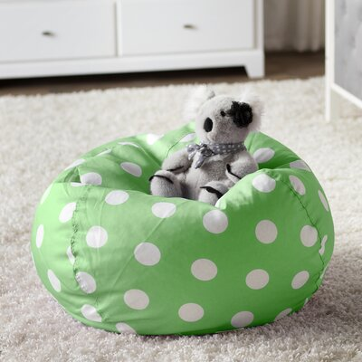 Margie Bean Bag Chair Upholstery: Green Dot