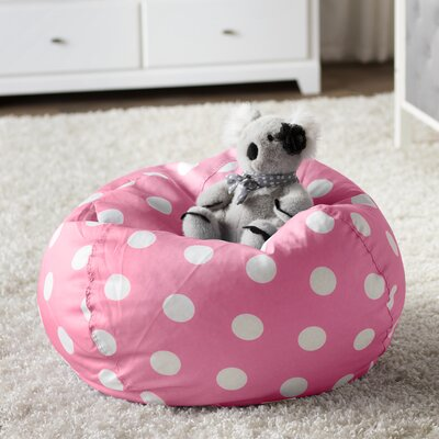 Margie Bean Bag Chair Upholstery: Pink Dot