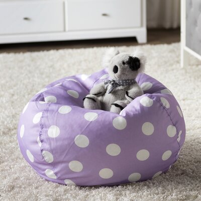 Margie Bean Bag Chair Upholstery: Purple Dot