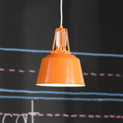 Sarah 1-Light Mini Pendant Finish: Hi Gloss Orange