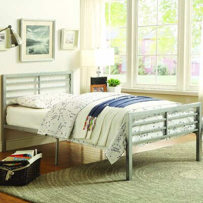 Hobart Panel Bed Size: Twin, Color: Silver
