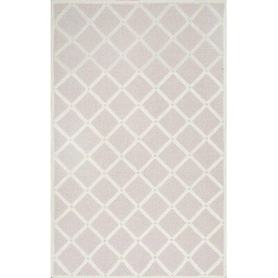 Jon Hand-Hooked Light Gray Area Rug Rug Size: 4 x 6