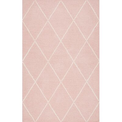 Nat Diamond Hand-Tufted Baby Pink Area Rug Rug Size: 5 x 8