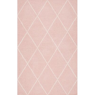 Nat Diamond Hand-Tufted Baby Pink Area Rug Rug Size: 76 x 96