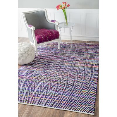 Jonah Hand-Woven Indigo Area Rug Rug Size: Rectangle 4' x 6'