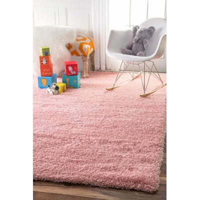 Julio Baby Pink Area Rug Rug Size: Rectangle 53 x 76