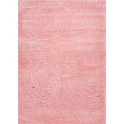 Julio Baby Pink Area Rug Rug Size: 53 x 76