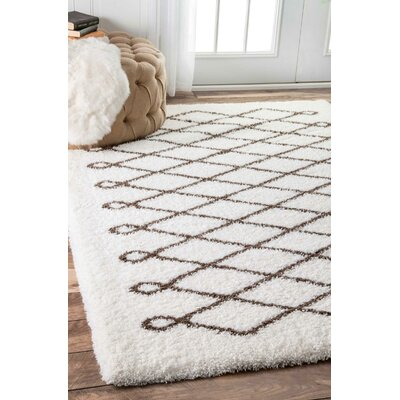Justus Brown Area Rug Rug Size: 53 x 76