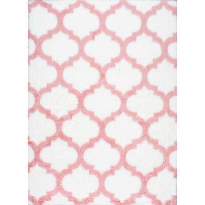 Kayden Pink/White Area Rug Rug Size: 5 x 8