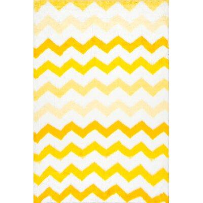 Lance Yellow Area Rug Rug Size: 5 x 8