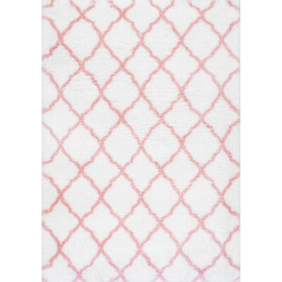 Kellie Baby Pink Indoor Area Rug Rug Size: Rectangle 53 x 76