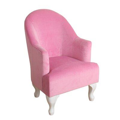 Leslie Juvenile Barrel Arm Chair Color: Pink