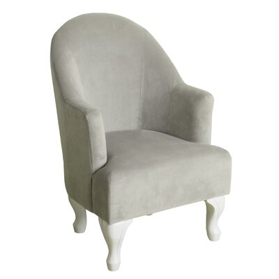 Leslie Juvenile Barrel Arm Chair Color: Dove Gray