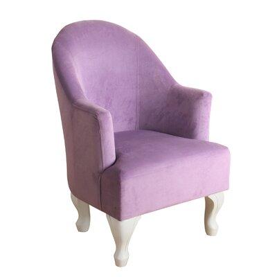 Leslie Juvenile Barrel Armchair Upholstery: Lavender