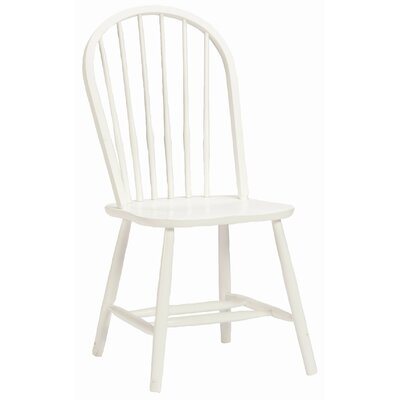 Bonneau Solid Wood Dining Chair Upholstery: White
