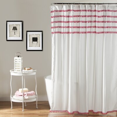 Keith Shower Curtain Color: Pink