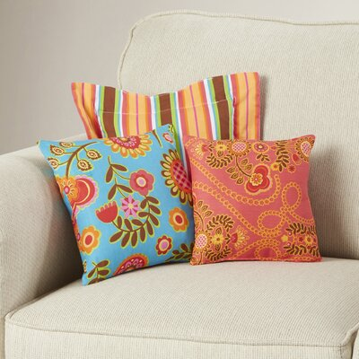 Royston 3 Piece Cotton Throw Pillow Set