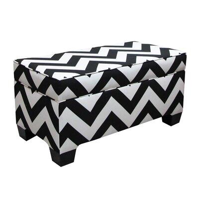 Vince Zig Zag Storage Ottoman Color: Black/White