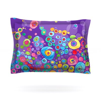 Sandy Pillow Sham Size: Queen, Color: Purple, Fabric: Woven Polyester