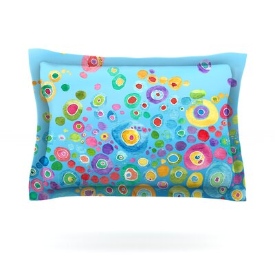 Sandy Pillow Sham Size: Queen, Color: Blue, Fabric: Woven Polyester