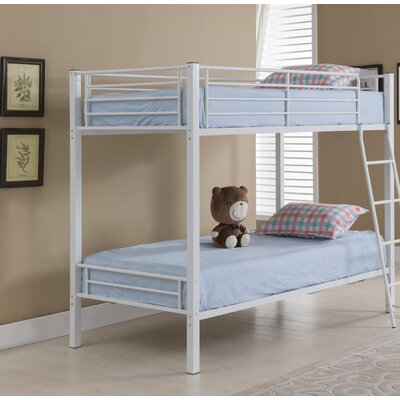 Bob Twin over Twin Bunk Bed Color: White Hammer