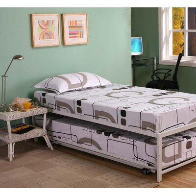 Holbrook Twin Platform Bed with Pop Up Finish: White