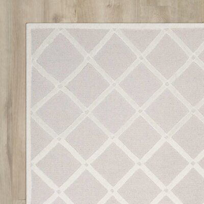 Jon Hand-Hooked Light Gray Area Rug Rug Size: Rectangle 6 x 9