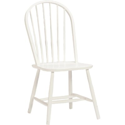 Bonneau Back Solid Wood Dining Chair Finish: White