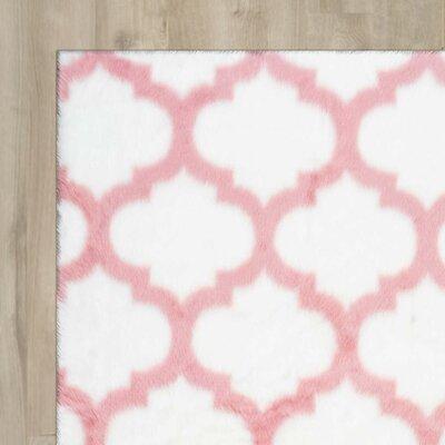 Kayden Pink/White Area Rug Rug Size: 76 x 96