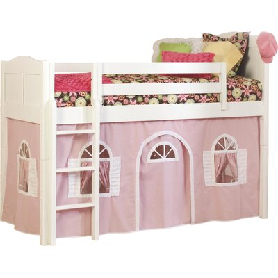 Bonneau Low Loft Bed Configuration: Low Loft Bed with Bottom Curtain