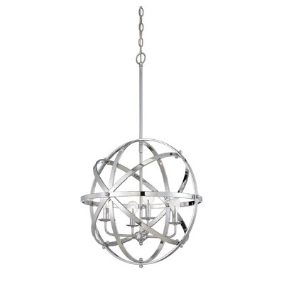 Brook 4-Light Mini Pendant Finish: Chrome