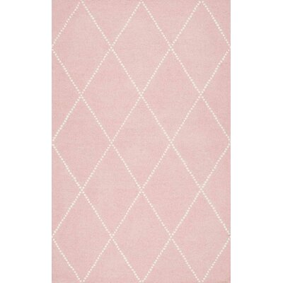 Nat Diamond Hand-Tufted Baby Pink Area Rug Rug Size: 86 x 116