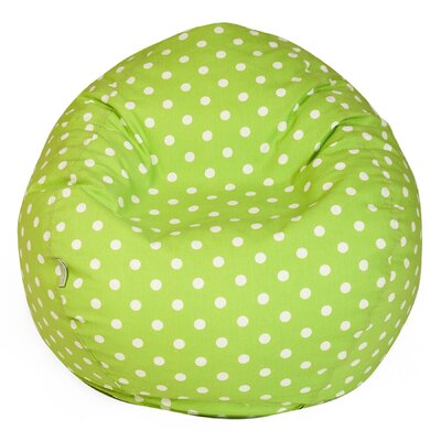 Telly Polka Dots Bean Bag Chair Upholstery: Lime