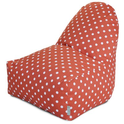Telly Bean Bag Lounger Upholstery: Orange