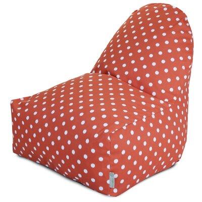 Telly Bean Bag Lounger Upholstery: Orange