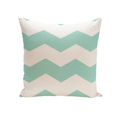 Milo Throw Pillow Size: 16 H x 16 W, Color: Aqua