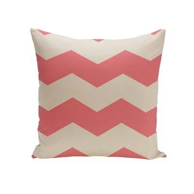 Milo Throw Pillow Size: 16 H x 16 W, Color: Coral / Latte