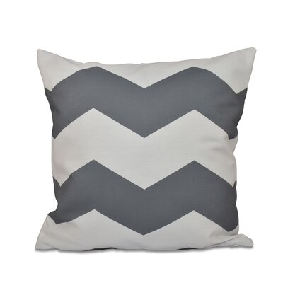 Milo Throw Pillow Size: 16 H x 16 W, Color: Steel Gray