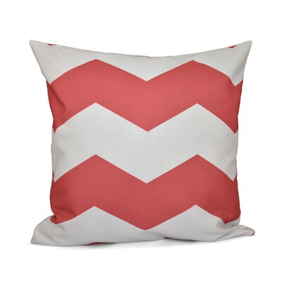 Milo Throw Pillow Size: 16 H x 16 W, Color: Coral